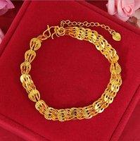 Link, Chain Hi Classic 24k Gold Hand Bracelet Party Friend Birthday Gift Tourist Souvenir Link