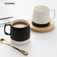 أكواب oussirro الشمال البسيطة السيراميك القهوة العشاق المنزلية الإبداعية شرب كوب هدية عيد