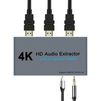 Audio Cables & Connectors With 3.5mm Jack 4K 60Hz Splitter Optical Spdif Office Metal PC Laptop Video For Extractor HDCP1.4 Converter Adapte