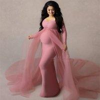 2021 Платья для беременных Фотографии Реквизит Беременное Беременность Длинное платье для беременных Женщины Макси-халат Детские душевые фотосъемки