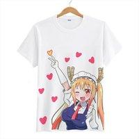 Anime Kobayashi San Chi Erkekler T Shirt Hiçbir Hizmetçi Dragon Kanna Kamui Toru Cosplay Kadın Kollu Tees Tops