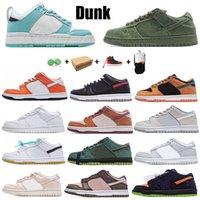 Chaussures de baskets rétro de Dunk 1S pour hommes Femmes de chaussures occasionnelles Qualité authentique Rubber Street Street Hawker Chunky Orange Pearl Green Glow Coast Plum Sports Baskets
