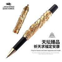 Penne Gel Jinhao Brand Doppio Dragon Temple of Heaven Style Chinese Retro Luxury Calligraphy Pen Pennies Forniture per ufficio, Confezione regalo Opzione per regalo