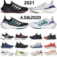 تم إصدار حذاء الجري الرجالي Ultra Boost 2021 Night Flash Solar Yellow Tech Indigo Ultraboost 4.0 20 ثلاثي أسود أبيض Sashiko للرجال والنساء أحذية رياضية رياضية