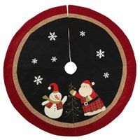 Christmas Decorations 1pc 120cm Snowman Merry Tree Skirts Santa Claus Year Home Decor Carpet Floor Mat Rug