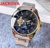Top Brand Super Gift Mens Watches 43mm Automatic Mechanical Watch Solid Full Fine Stainless Steel Sapphire Self-wind Fashion Wristwatches