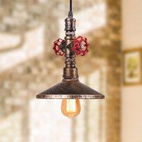 Vintage Loft Industriet Iron Water Rohr Pendelleuchte Retro E27 LED Pendelleuchte Bar Restaurant Küche Schlafzimmer Hängende Lichter