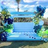 newest inflatable wedding bouncer, 4x4m commercial birthday bouncy caslte party moonwals house for adults N kids