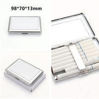 Zigarettenkoffer Sublimation Metall 98 * 70 * 13mm Einzelseiten Wärmeübertragung Rauchen Zubehör DIY Blanks Box Fast A12