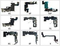 10pcs per iPhone 6 6G 6S 6P 7 7P 8G 8 Plus USB Caricabatterie Porta di ricarica Connettore dock Cellulare Cavo flessibile con microfono