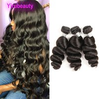 الشعر البشري البرازيلي فضفاض موجة 4 قطع أو 5 قطع موجة عميقة لحمة مزدوجة 8-30 بوصة الجملة الشعر الملحقات
