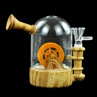 Smoking Water Wheel Bong Glass Pipe Oil Burner Silicone Blunt Bubbler with Gifted Box