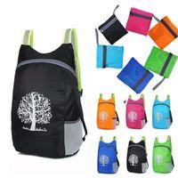 Sacs de rangement Sac de pliage Durable Extérieur Packable Travel Lightweight Randonnée Sac à dos Daypack Pour voyager Camping 40 * 28 * 13cm