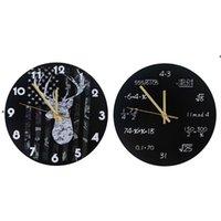 Industrial Modern Wall Clock Art Americano Personalidad Sala de estar Relojes Inicio Oficina Escuela Vintage Decoración HHD6220