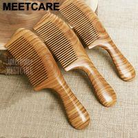 Top Grade Ebony Hair Combs Precious South American Green Macassar Wood Exquisite Craft Sandalwood Fragrance Pure Handmade Gifts1