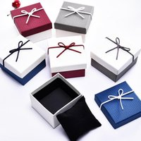Jewelry Pouches, Bags High Quality 6 Pack Lot Creative Box Ribbon Bow Bracelet Watches Kraft Paper 9x8.5x5.5 Cm Gift Cases With Pollow