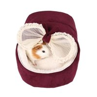 Cat Beds & Furniture Cute Bow House Dog Bed Pet Warm Soft Dogs Kennel Sleeping Bag Cama Perro
