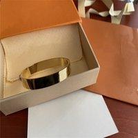 Designer Schmuck Armle Rose Gold Silber Edelstahl Luxus Einfache Kreuz Muster Schnalle Liebe Frauen Männer Armbänder Marke Warenkorb Box