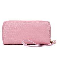 Wholesale Purses Handbags Coin Purse Card Bag Fashion Zipper Popular Plain Wallets High Quality PU Wallets Ladies Long PurseN7CG