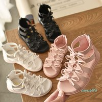 Girls' sandals soft leather Roman shoes Korean children's sandals princess shoes summer baby sandals fashion