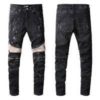 2021 New Arrivals Amiry Mens Luxury Designer Denim Jeans Holes Trousers Biker Pants Men's Clothing #809