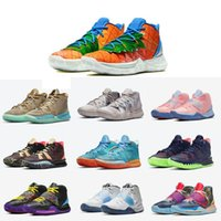 Top quality Kyries 5 6 7 Basketball Shoe Pineapple House Bred Creator Soundwave Horus Men Womens Irving Sport Sneakers For Sale With Box