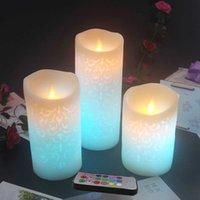 Çoklu Renk Işık Değiştirme LED Balmumu Mum RGB Uzaktan, Düğün LED Tedarik / Bar, Spa, KTV, El, Chirstmas, Yıl Mum LED 210702