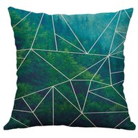 Корпус подушки Kxaaxs Мода для белого х см Симпатичные простые льняные креативные Lovel Cover Kussen Hoesjes Groen