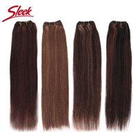 Human Hair Bulks Sleek Remy Brazilian Natural Straight In Weaves Bundles P4 27 And Blone P6 27 Extension 10 To 26 Inches
