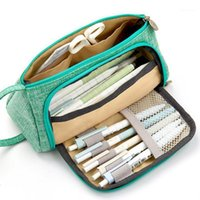 قدرة كبيرة قلم رصاص القلم حقيبة الحقيبة حامل الحقيبة ل مكتب المدرسة الثانوية كلية فتاة الكبار كبير تخزين المدرسة قلم رصاص مربع 1