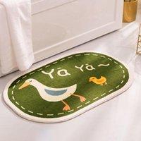 Carpets Cartoon Doormat Slip-resistant Bathing Room Rug Absorbent Floor Mat Cute Anti-slip Bathroom Doorway Entrance Fluffy