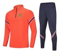 Yeni İsveç Futbol Takımı Eğitim erkek Eşofmanlar Koşu Ceket Setleri Koşu Spor Giymek Futbol Ev Kitleri Yetişkin Giysileri Yürüyüş Suits