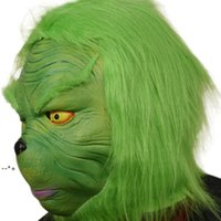 Halloween Green Mask Christmas Masquerade Party Masks Costumes Accessory Cosplay Headgear Face Funny Performance NHF10365