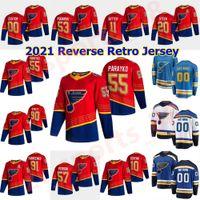 세인트 루이스 블루스 2021 Reverse Retro Hockey Jersey Jay Bouwmeester Jersey Michael Del Zotto Patrick Michael Tyler Bozak Zach Sanford 맞춤형 남성
