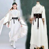 مرحلة ارتداء jing تيان الأبيض ضيق الأكمام السيف سيدة هانفو لملك الحريق مرحلة الأداء الدراما زي الإناث ارتداء