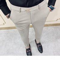 Casual Slim Fit Mens Dress Pants Streetwear Suit Pantaloni uomo 34 Pantaloni da ufficio Gentlemen di alta qualità Uomo Tutti abbinati alla caviglia Lunghezza 200930
