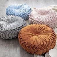 Cuscino / cuscino decorativo cuscino rotondo cuscino da pavimento in velluto a mano piuma a mano zucca morbida divano home decor cuscini