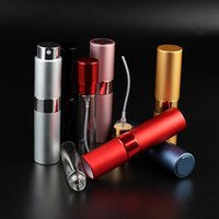 8ML 15ML Mini Portable Aluminum Telescop Refillable Perfume Bottle With Atomizer Empty Parfum Case With Gift Boxes For travel GWE10615