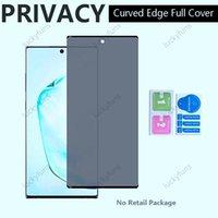 الخصوصية المضادة للوهج مكافحة جاسوس 5D منحني ملء الشاشة حماة غطاء الزجاج المقسى لسامسونج S21 S21PLUS S21ULTRA ملاحظة 20 S20 Ultra Plus S10 S8 S9 Note10 Note8 Note9