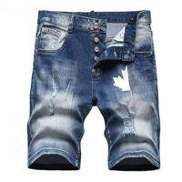 Mens Ripped Jeans Shorts 20ss Designer Clothing Distressed Slim Fit Motorcycle Biker Denim For Men s Mans Pants pour hommes
