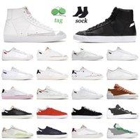 Haute Qualité 2021 Og Blazer Mid 77 Chaussures de course LX Blanc Blanc Britannique Britannique Bas Vintage Mens Hommes Femmes Pastel Midnight Navy Entraîneurs Sneakers