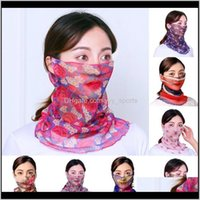 Caps Masks Protective Gear Cycling Sports & Outdoors Drop Delivery 2021 Naturehike Scarf Balaclava Womens Dustproof And Sun Protection Riding