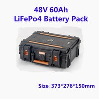 Rechargeable 48V 60Ah LiFePo4 Battery Pack With 15S BMS Lithium Iron For Solar Energy Storage Electric Vehicles Golf Cart