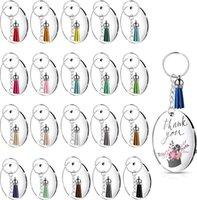 الاكريليك المفاتيح المفاتيح خواتم البلاستيك diy 24 قطعة مجموعة متعددة الألوان المحمولة الإبداعية هدية شفافة جولة الاكريليك HWD6924