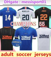 2021 Glasgow Rangers Home Dritter Auswärts Champions 55 Fussball Trikots Defoe Hagi Morelos Tavernier 20/21 Rangers Football Hemden