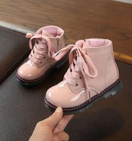 NEW 2020 Girls Leather Boots Boys Shoes Autumn Winter PU Leather Children Fashion Toddler Kids Boots Warm Winter Boots umH