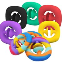 DHL Ship Anti Stress Finger Hand Grip Stress Reliever Fidget Toy Adult Child Simple Dimple Stress Toys Decompression Pop It