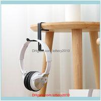 Hooks Rails Storage Housekeeping Organization Home & Gardenuniversal Office Headset Hanger Headphone Stand Earphone Metal Hook Holder Table