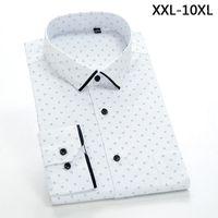 New comming autumn plaid Mens cotton shirts formal dress shirts very big large plus size XXL-4XL 5XL 6XL 7XL 8XL 9XL 10XL1