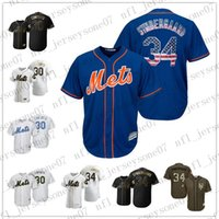 Custom New York men womens youth Mets 30 Michael Conforto 34 Noah Syndergaard white black blue Authentic 2020 Home Jersey